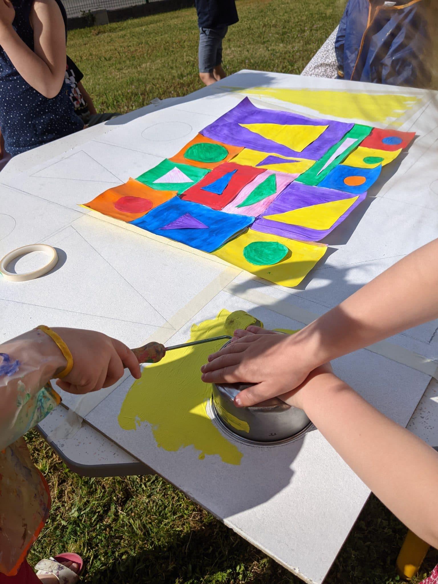 Peinture chez les maternelles